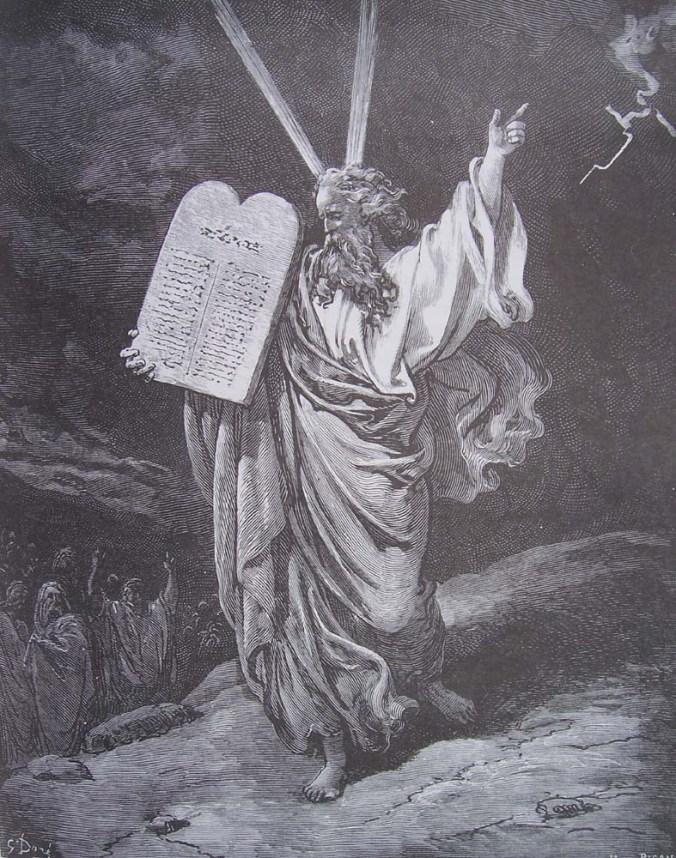 gravure-dore-bible-moise-descend-du-sinai