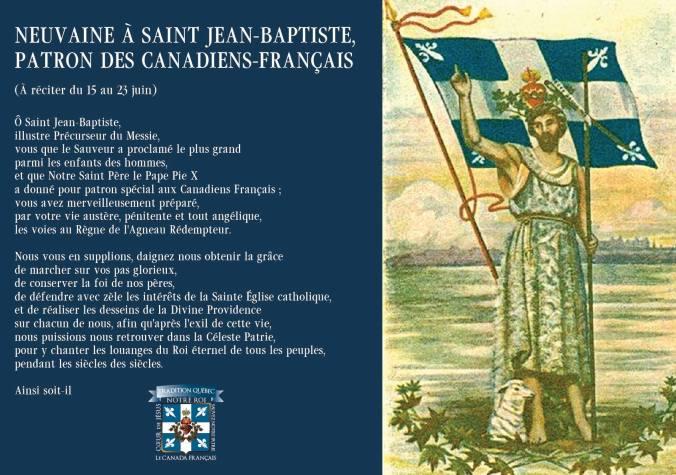 Neuvaine St Jean-Baptiste TQ