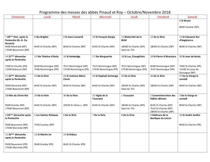 Programme Pinaud 2018-10